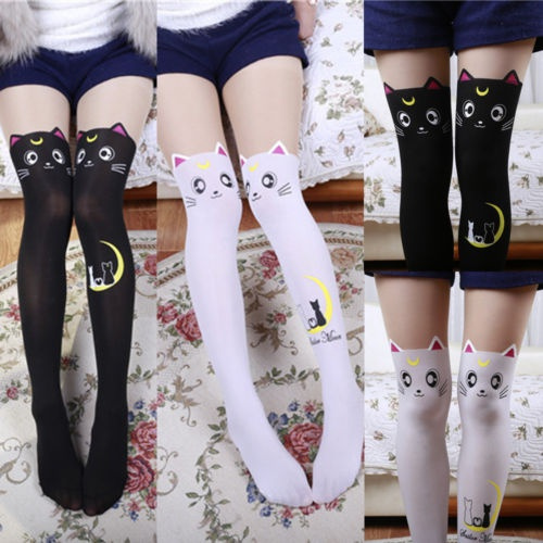 separation shoes low priced sale Fashion Womens Girls Long Socks Over Knee Thigh High Stockings Pantyhose