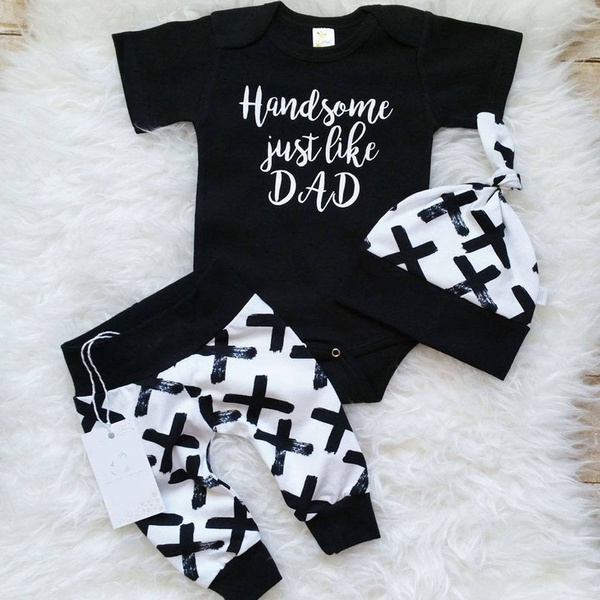 Baby Long and Short Sleeve Pyjamas Set Romper with Bottoms for Baby Boy