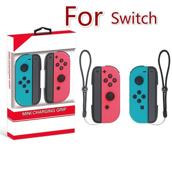 2019 1 Pair DOBE Controller Charging Handle Grip Joystick for Nintendo  Switch Joy-Con (Color: Black)