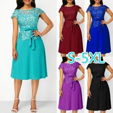 Summer, plus size dress, Lace, Cocktail