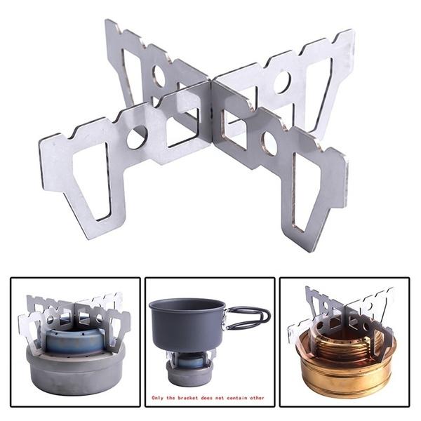 Picnic Alcohol Stove Stand Rack Spirit Burner Base Bracket Stainless Steel Rack