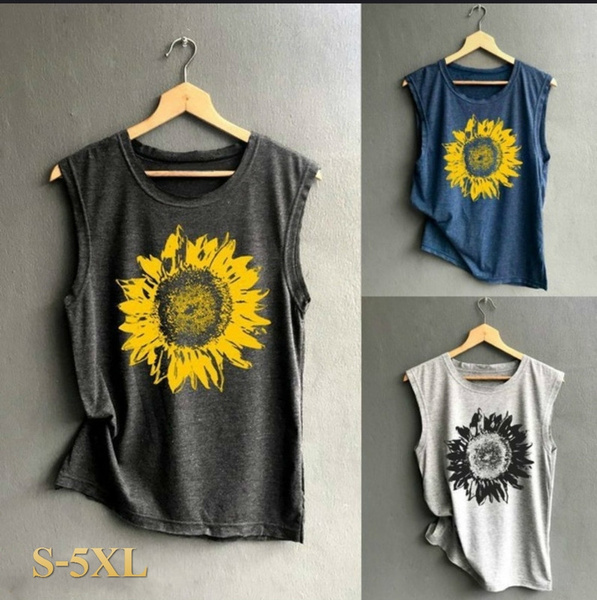 blouse, Summer, Vest, Printed T Shirts