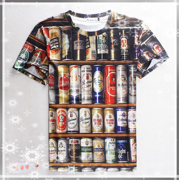 Men 3D Digital Printing T-shirts, Sports Round Collar Short Sleeves Fashion  Casual T-Shirt