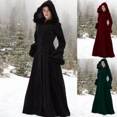 Dark, hooded, Magic, women coat