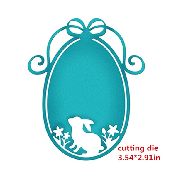 Metal Cutting Dies Easter Rabbit Eggs Frame DIY Paper Album Scrapbooking Stencil
