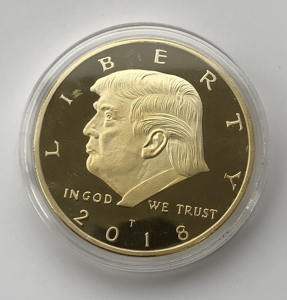 2017 President Donald Trump Inaugural Golden EAGLE Commemorative Novelty Coin