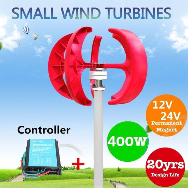 400W 12V/300W 24V Power Generator Lantern Type Vertical Axles Wind Turbine  Generator