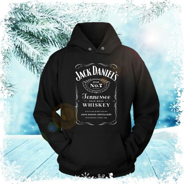 Jack Daniels Hoodie Mens Black