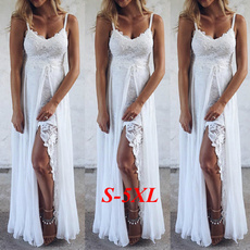 Summer, Spaghetti Strap, Lace, gowns