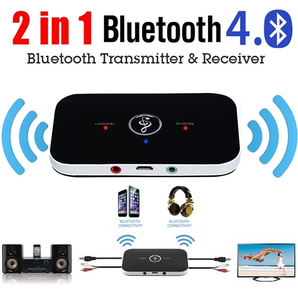 Bluetooth V4.2 Transmitter /& Receiver Wireless A2DP Audio 3.5mm Aux Adapter Hub