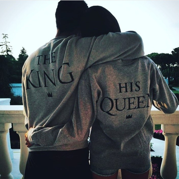 Couple Hoodies, women pullover, hisqueen, King