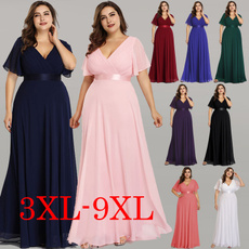 Plus Size, ruffle, Evening Dress, Dress