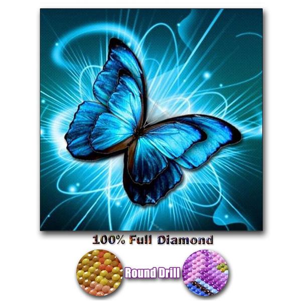 Diamond Painting Manual Butterfly Full Drill 5D DIY Kits Stitch Cross Home Decor