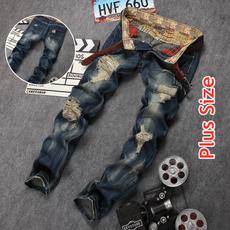 men's jeans, Fashion, plus size jeans, Casual pants