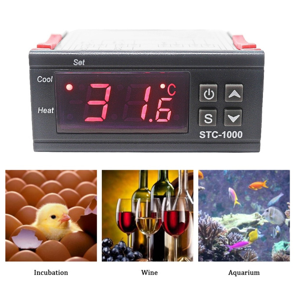 STC-1000 Digital LCD Display Controller Thermostat Relay 220V 110V For Incubator