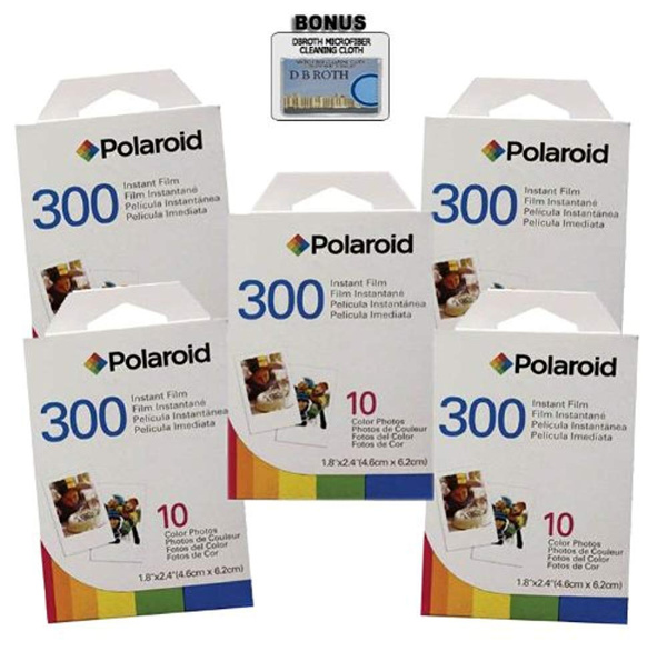 4 Pack of Polaroid PIF-300 Instant Film for 300 Series Cameras