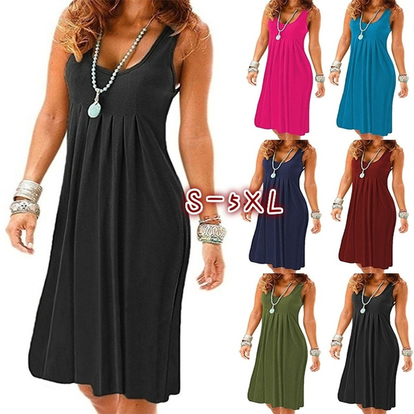 Summer, Vest, Fashion, pleated dress