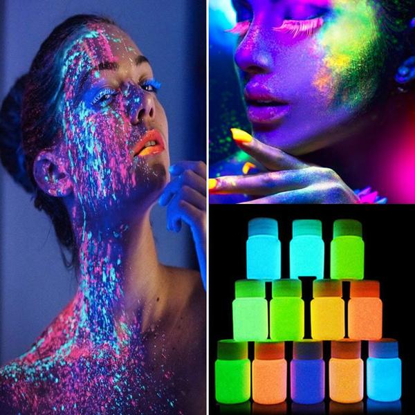 party, luminouspaint, bodypainting, Beauty