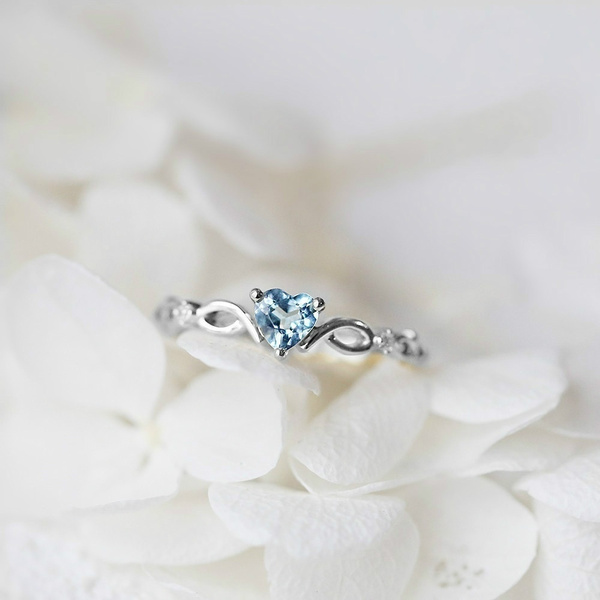 Heart, shing, crystal ring, Jewelry