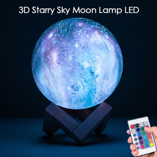3dlamp, 3dprintedlamp, ledballlight, moonlamp