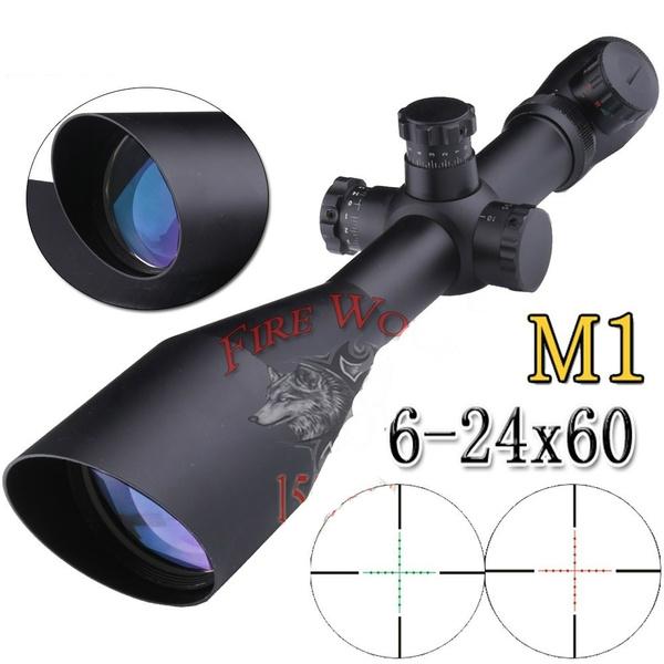 FIRE WOLF Mark 4 M3 6-24x50 mm AO illuminated Mildot side wheel hunting scope
