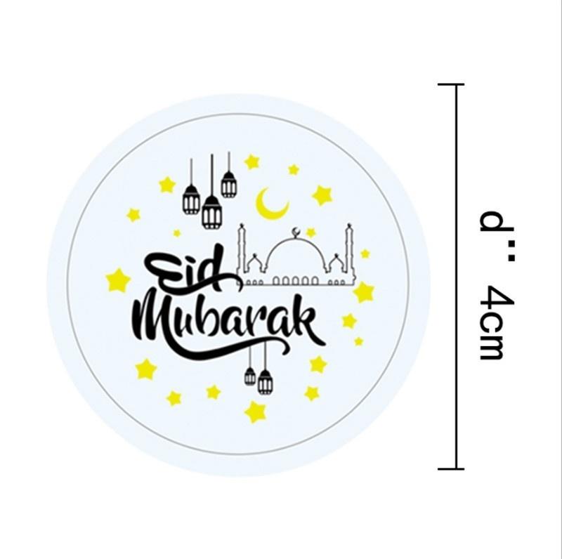 Eid Mubarak Stickers: 60 Pcs/set EID Mubarak Ramadan Decoration Party Candy Box