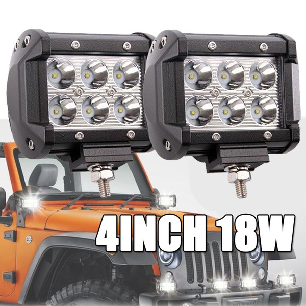 18W 4INCH Work Light Car Lights Spot Light Police Light Night Light Led  Lights for Car Atv Accessories 4x4 Accessories Jeep Accessories Lumiere Led