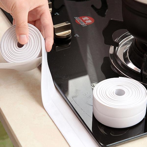 3.2m Kitchen Self Adhesive Waterproof Anti-moisture PVC Tape Wall Caulk Sticker