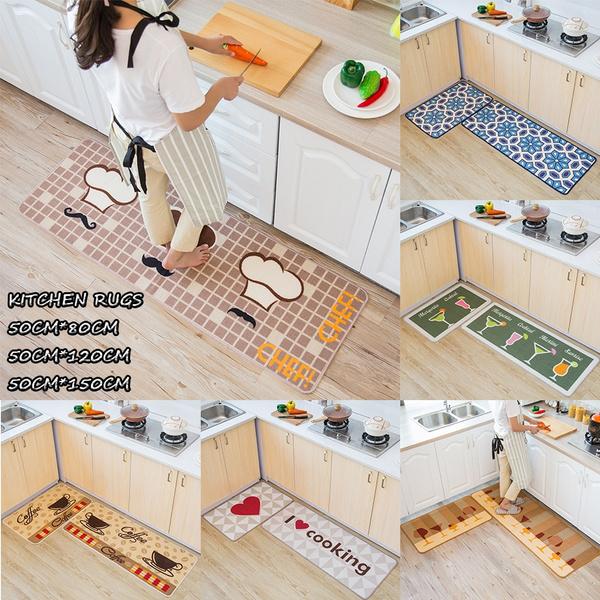 1Pcs Multi-purpose Non-slip Microfiber Kitchen Rugs Doormats Bebroom  Livingroom Carpets