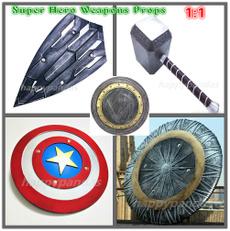 thorhammer, captainamericashield, endgamecosplay, superherocosplayprop