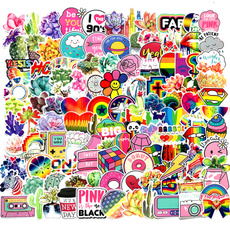 pink, cute, luggagesticker, Car Sticker