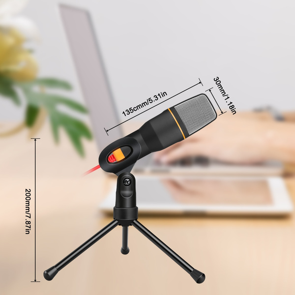 SF-666 Condenser Microphone 3 5mm Plug&Play Home Stereo MIC With Desktop  Tripod For YouTube Video Skype Chatting Gaming Podcast Recording For PC