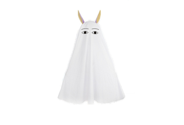 FGO Fate Grand Order Nitocris Lovely White Cape 120CM with Ears Cosplay Costume
