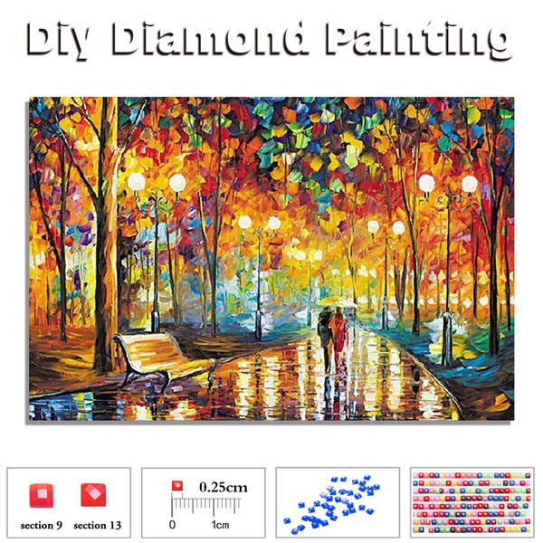 Street Tree Full Drill DIY 5D Diamond Painting Cross Stitch Kits Mosaic Decor
