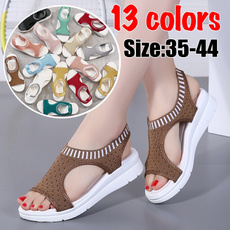 Summer, Plus Size, Flats shoes, Elastic