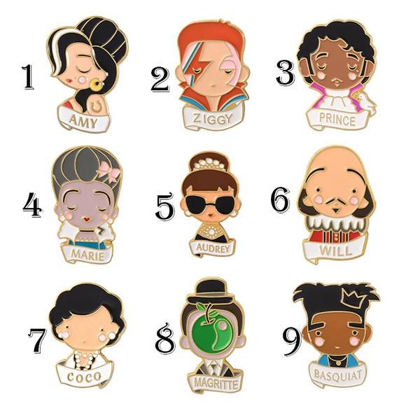 cute, Jewelry, Pins, enamelbrooch