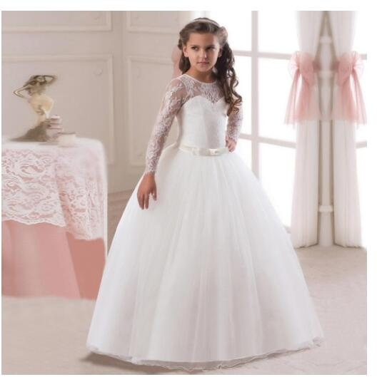 Girls Party Dress Princess Flowers Wedding Dresses Toddler Baby Pageant Tulle