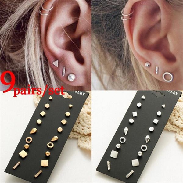 punk earring, Gifts, Stud Earring, Simple