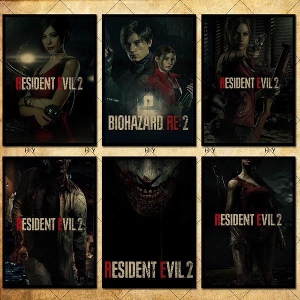 2 Style 42 Kind Resident Evil 2 Remake Poster Kraft Photo Paper Wallpaper Decoration 42 X 29 7cm 11 6 16 5 Inch Wish