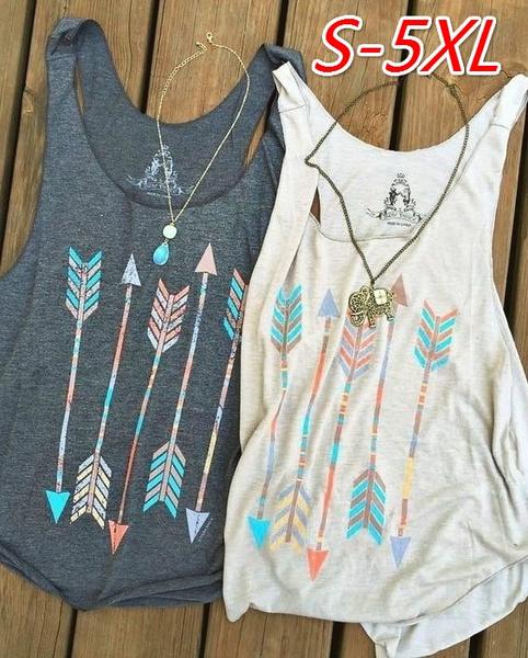 vesttop, Summer, Vest, Plus Size