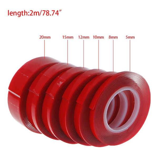 2M Acrylic Double Sided Adhesive Sticker Tape Ultra High Strength Mounting  Tape RZE