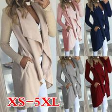 cardigan, Sleeve, Irregular, Long Coat