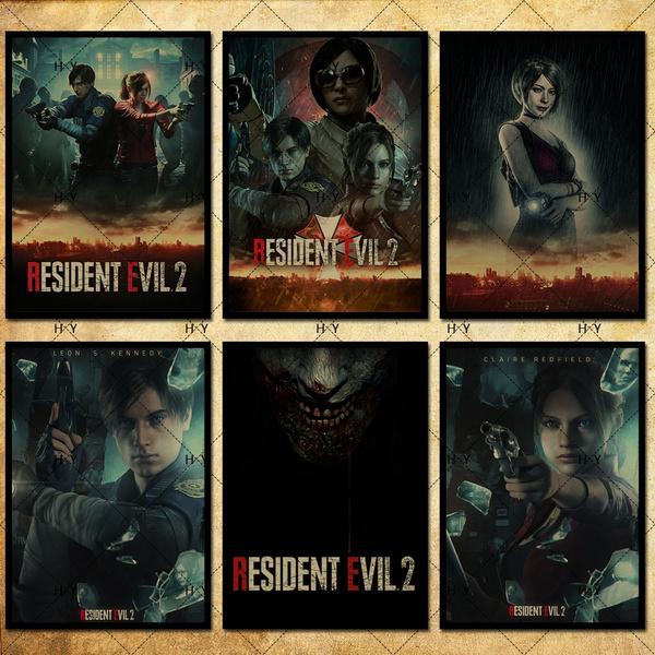 42 Kind Resident Evil 2 Remake Video Game Poster Kraft Photo Paper Wallpaper Decoration 42 X 29 7cm 11 6 16 5 Inch Wish