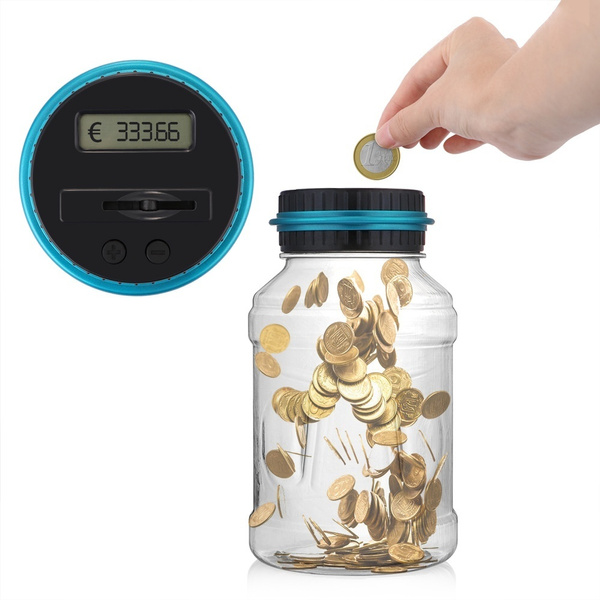 Fashion Large Digital Coin Counting Lcd Coin Counting Box Jar Money Storage Box Automated Coin Bank Coin Saving Box Coin Bank Electronic Coin Counting Money Saving Box by Wish