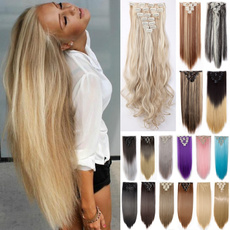 hair, naturalhairextension, Fiber, clip in hair extensions