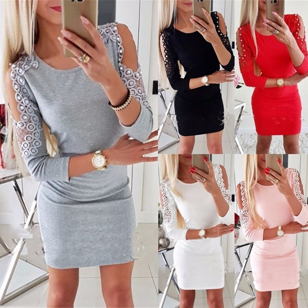 Mini, Plus Size, Fashion, Sleeve