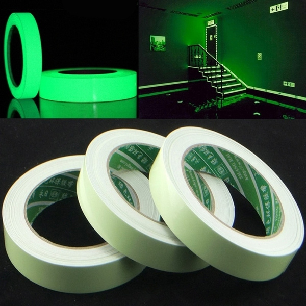15mm X 3 M/Roll Luminous Tape Self Adhesive Glow In The Dark Safety Stage Home Decorations Warning Tape by Wish