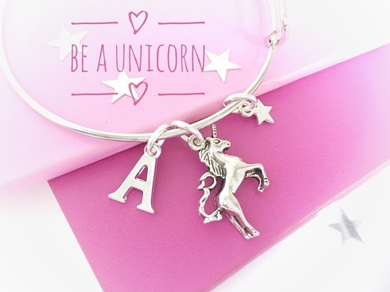 Charm Bracelet, Jewelry, Gifts, unicornlovergift