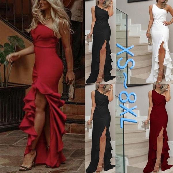 Plus Size, ruffle, long dress, Evening Dress