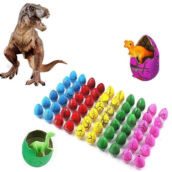 60PCS Magic Add Water Hatching Growing Dinosaur Eggs Kids Toys Children Gift !
